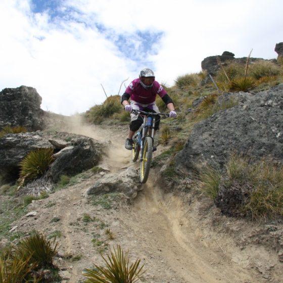 Downhill mountain bike track, Dirt Park NZ, Queenstown