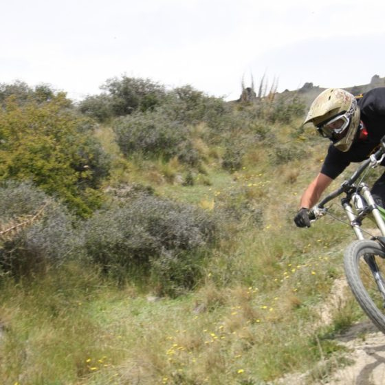 One of the faster sections on the Dirt Park DH track