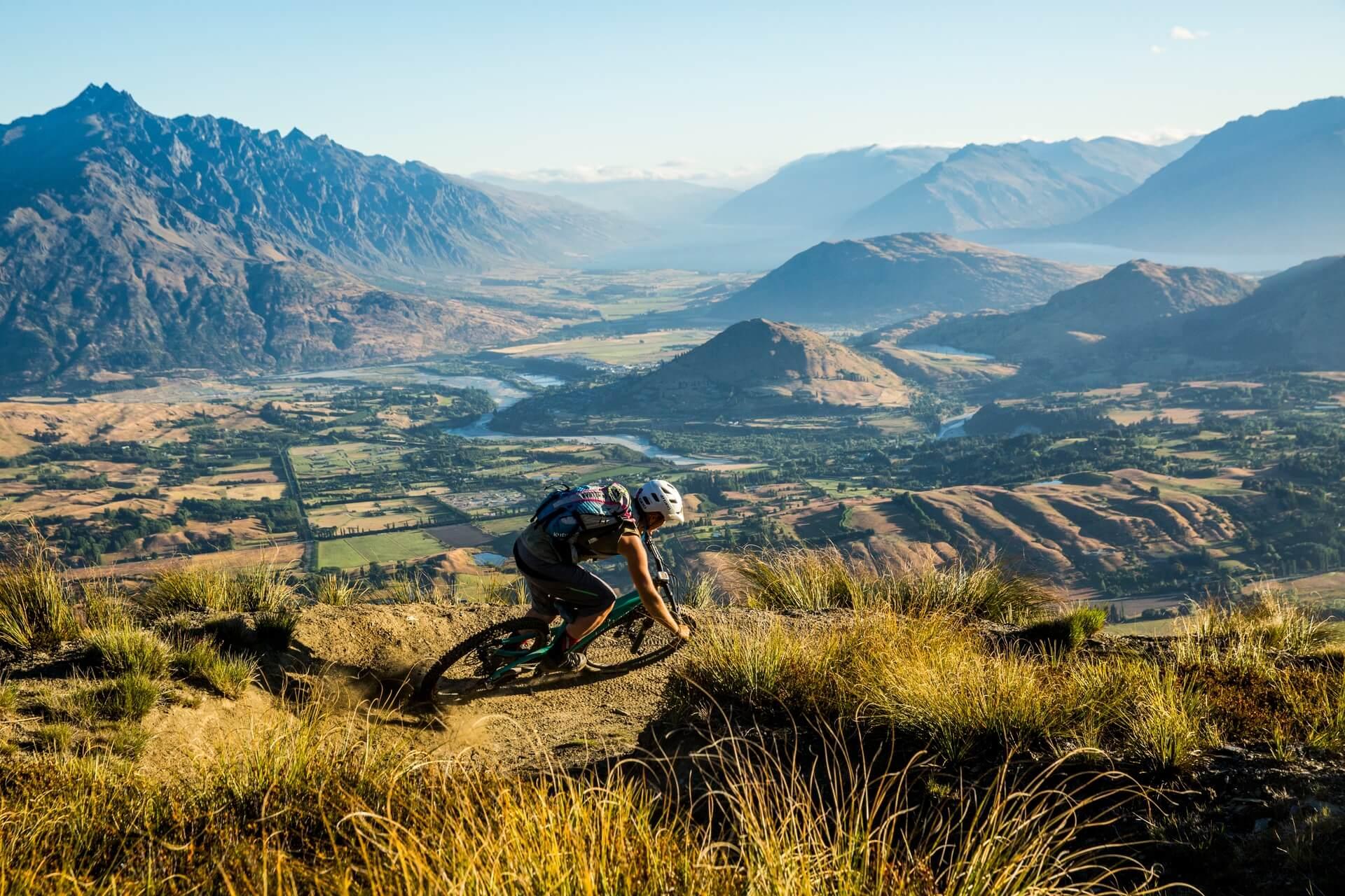 Mountain biking on Coronet Peak, Queenstown