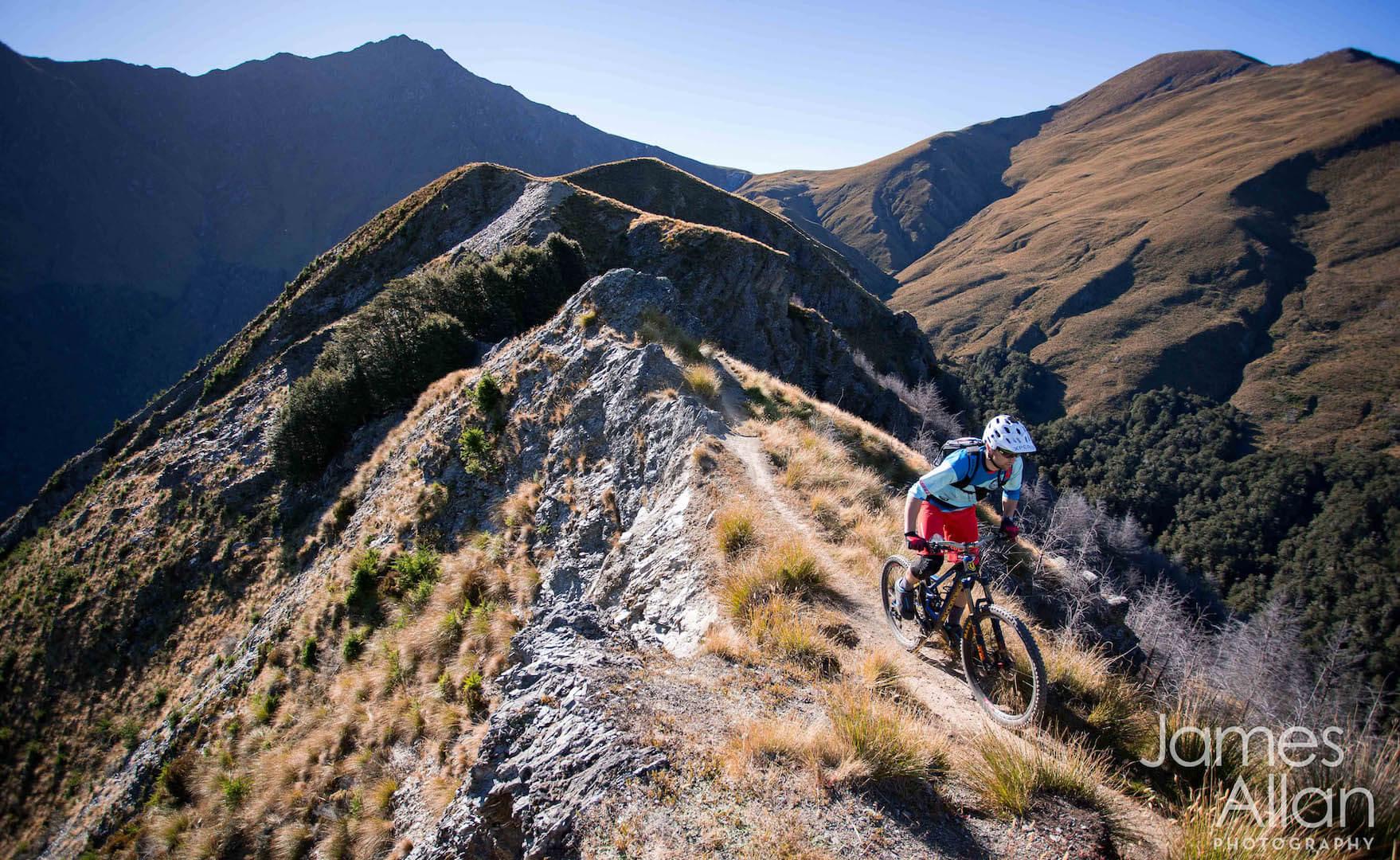 Mountain biking Queenstown trail The Missing Link