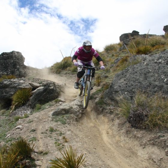 Downhill mountain bike track, Dirt Park NZ, Queenstown