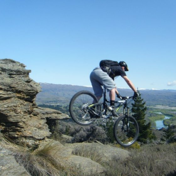 Mountain biker in Alexandra cross country trails