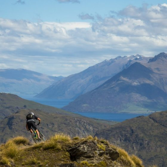 Queenstown's Lake Wakatipu and epic views from Rude Rock MTB Trail