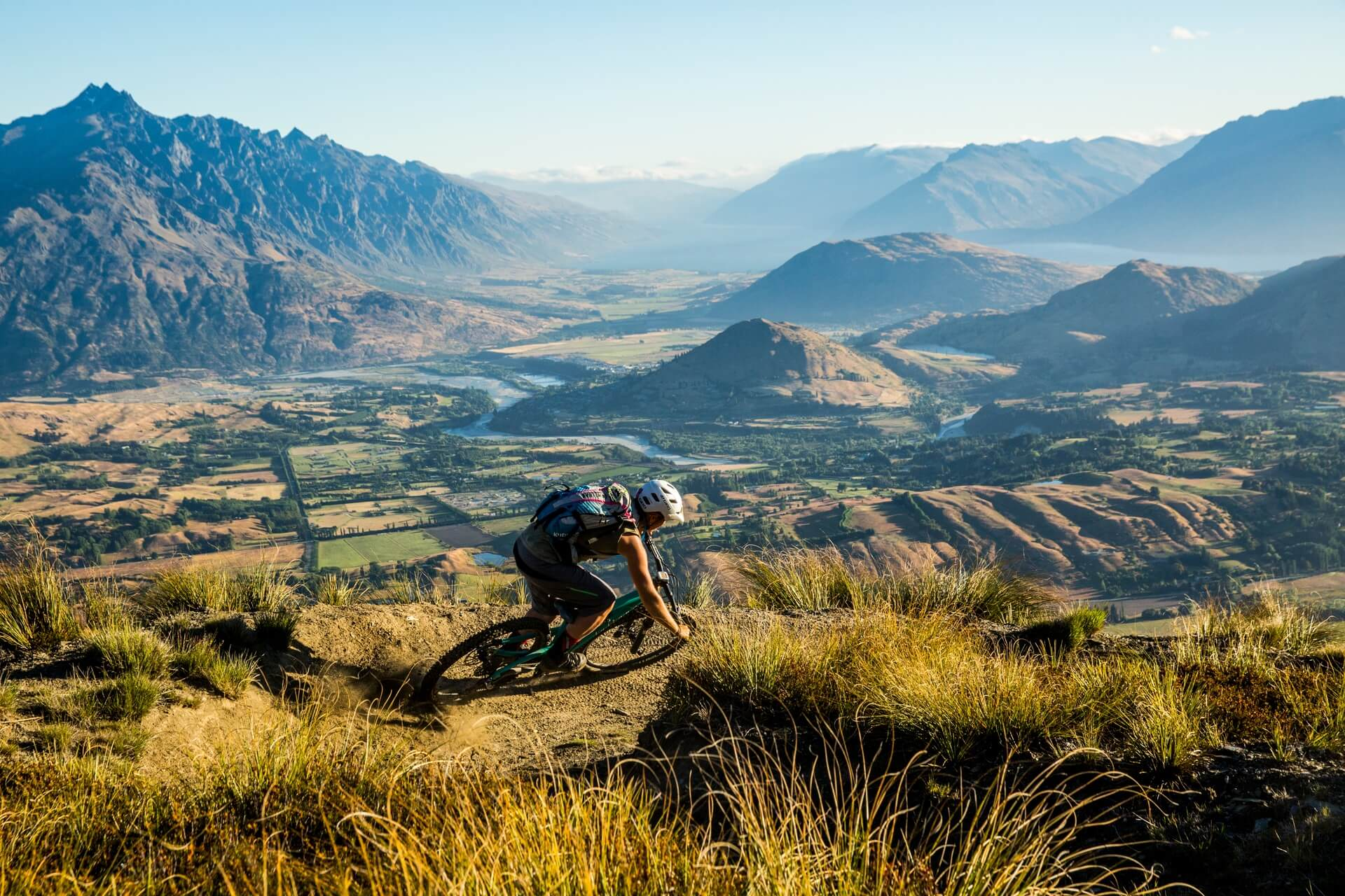 Mountain biking on Coronet Peak, Queenstown