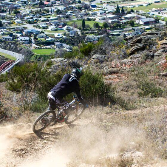 Biking at Clyde a day trip from Queenstown, epic downhill mountain biking