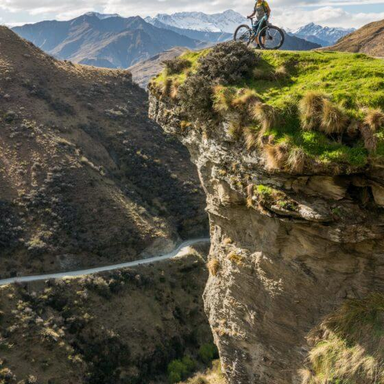 scenic views across skippers pack track | mountain biking trail Queenstown