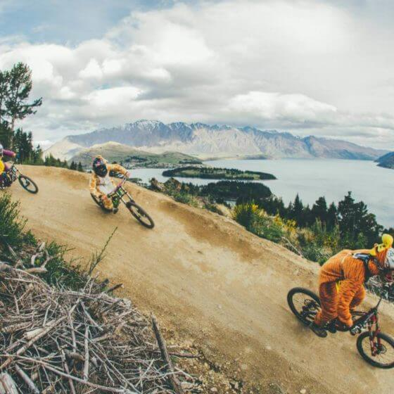 Biking fun at skyline queenstown mtb
